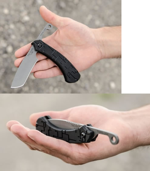 画像: 1095ハイカーボン鋼 タックレザーフォルダーナイフ