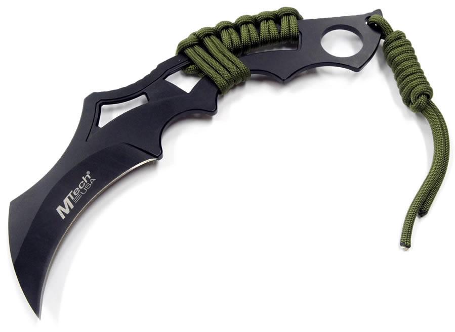 画像1: タクティカルパラコード巻きカランビットナイフ