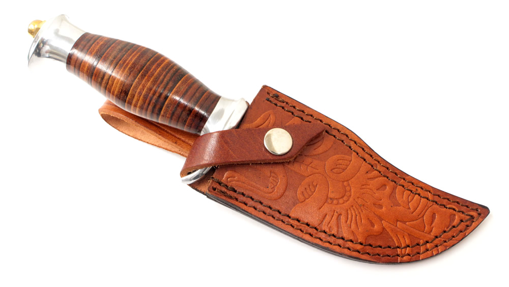 画像3: スタックドレザーハンターナイフ