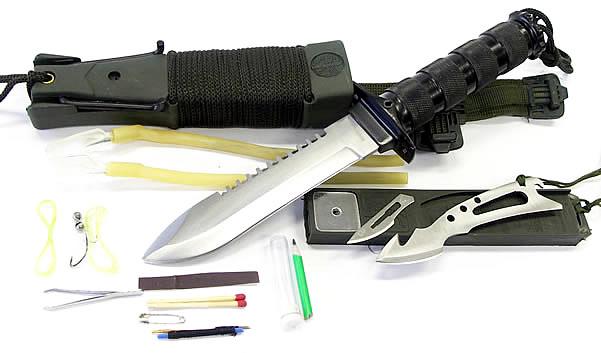 画像3: ジャングルファイター2 多機能サバイバルナイフ・生存キット付