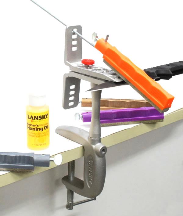 画像5: ランスキーナイフシャープナー(研ぎ器)&クランプ台