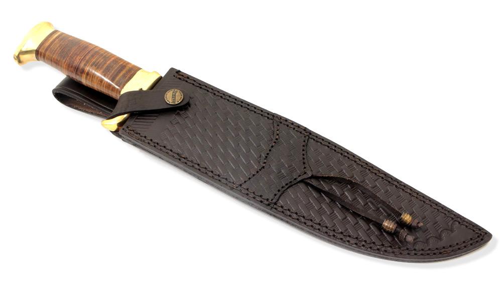 画像3: ダマスカス鋼 スタックドボウイナイフ