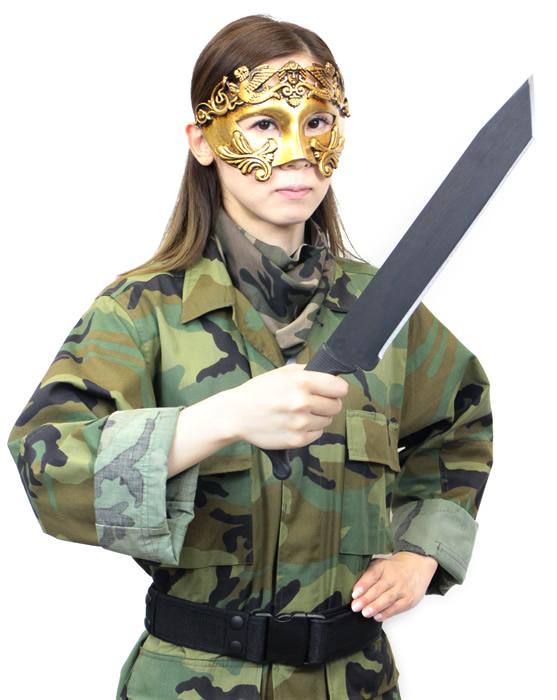 画像2: タントーマチェットナイフ チィン1055鋼ブレード 山刀