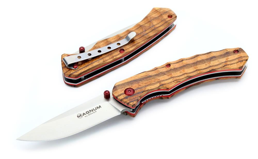 画像1: レッドプードルライナーロックナイフ