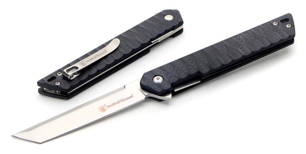 画像1: S&W 24/7タントーブレードフリッパーナイフ