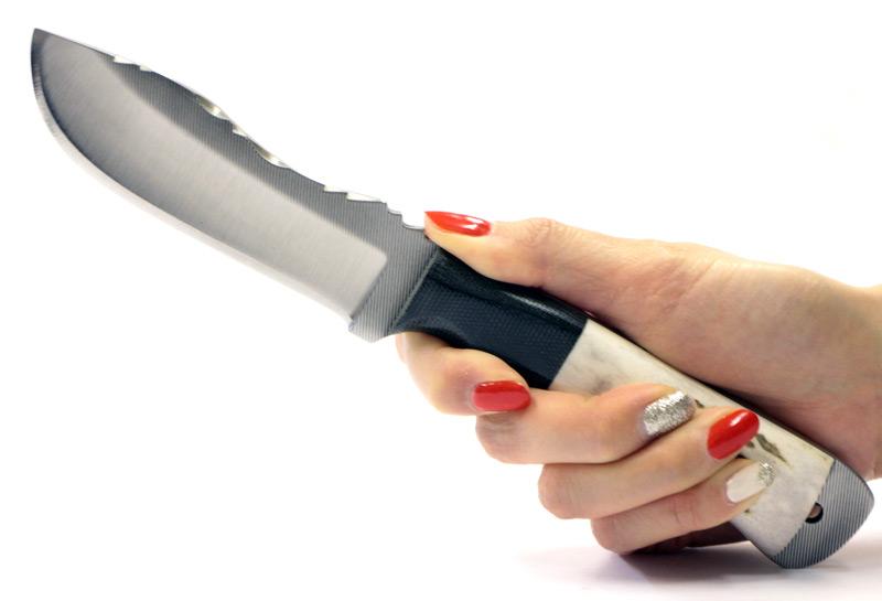 画像: ヤスリブレードスタッグハンティングナイフ